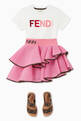 thumbnail of FF Logo Asymmetrical Ruffled Skirt     #1