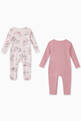 thumbnail of Horses Doodle Organic Cotton Romper, Set of 2     #1