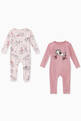 thumbnail of Horses Doodle Organic Cotton Romper, Set of 2     #0