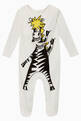 thumbnail of Zebra Cotton Bodysuit & Bib Set #1