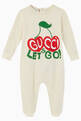 "thumbnail of ""Let's Go"" & Cherries Print Cotton Onesie #0"