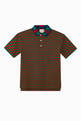 thumbnail of GG Embroidered Striped Polo T-Shirt   #0