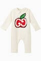 thumbnail of GG Apple Print Cotton Onesie   #0