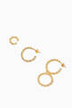 thumbnail of Twisted Wires Earring Set in 18kt Gold-Plated Brass #2