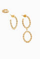 thumbnail of Twisted Wires Earring Set in 18kt Gold-Plated Brass #0