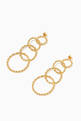 thumbnail of Twisted Links Dangling Earrings in 18kt Gold-Plated Brass #2
