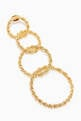 thumbnail of Twisted Links Dangling Earrings in 18kt Gold-Plated Brass #3