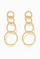 thumbnail of Twisted Links Dangling Earrings in 18kt Gold-Plated Brass #0