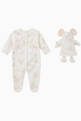 thumbnail of Printed Cotton Sleepsuit with Toy Mouse   #0