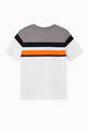 thumbnail of Contrast Stripes Logo Cotton T-Shirt     #2