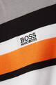 thumbnail of Contrast Stripes Logo Cotton T-Shirt     #3