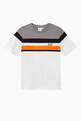thumbnail of Contrast Stripes Logo Cotton T-Shirt     #0