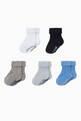 thumbnail of Logo Ribbed Knit Socks, Set of 5 #1