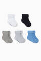 thumbnail of Logo Ribbed Knit Socks, Set of 5 #0