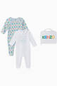 thumbnail of Tiger & Logo Organic Cotton Sleepsuit Set   #0
