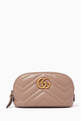 thumbnail of GG Marmont Cosmetic Case in Chevron Leather    #0