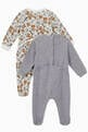 thumbnail of Bear Logo Print Sleepsuits, Set of 2 #1