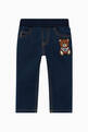 thumbnail of Teddy Bear Embroidered Denim Jeans   #0
