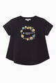 thumbnail of Embroidered Flowers Logo Jersey T-Shirt     #0