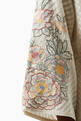 thumbnail of Folklore Embroidered Silk Kaftan Dress #3