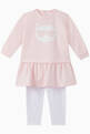 thumbnail of Choupette Cotton Dress & Leggings Set    #0