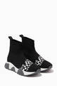 thumbnail of Logo Jacquard Sock Sneakers in Knit    #0