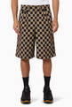 thumbnail of Chequer Cotton Jacquard Tailored Shorts     #0