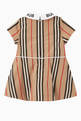 thumbnail of Logo Icon Stripe Cotton Poplin Dress   #2