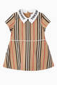 thumbnail of Logo Icon Stripe Cotton Poplin Dress   #0