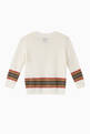 thumbnail of Icon Stripe Panel Merino Wool Sweater     #2