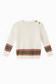 thumbnail of Icon Stripe Panel Merino Wool Sweater     #0