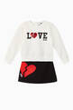 thumbnail of Heart Sweatshirt & Skirt Set  #0