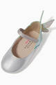 thumbnail of Chiara Embroidered Ballerina Flats in Metallic Leather   #3