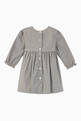 thumbnail of Micro Gingham Grey Marl Dress    #1