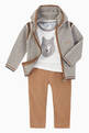 thumbnail of Grey Marl Cotton-Cashmere Hooded Jacket  #1