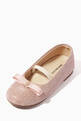 thumbnail of Grosgrain Bow Ballerinas in Glitter Fabric    #3