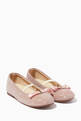 thumbnail of Grosgrain Bow Ballerinas in Glitter Fabric    #0