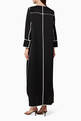 thumbnail of Monochrome Ribbed Abaya   #2