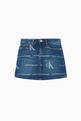thumbnail of CK Monogram Denim Skirt   #0