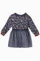 thumbnail of Printed Chambray & Tulle Dress    #1