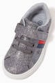 thumbnail of Star Low Top Velcro Sneakers in Faux Glitter Leather   #3