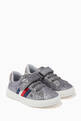 thumbnail of Star Low Top Velcro Sneakers in Faux Glitter Leather   #0