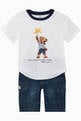 thumbnail of Sparkler Bear Cotton T-Shirt #1