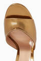 thumbnail of Mirror 120 Mules in Metallic Leather   #4