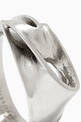 thumbnail of x Zaha Hadid Design Twisted Ring in Stainless Steel       #3