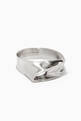 thumbnail of x Zaha Hadid Design Twisted Ring in Stainless Steel       #0