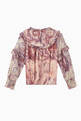 thumbnail of Marble Printed Ruffled Top   #2