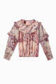 thumbnail of Marble Printed Ruffled Top   #0