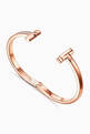 thumbnail of Tiffany T1 Wide Diamond Hinged Bangle in 18kt Rose Gold           #5