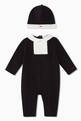 thumbnail of Holiday Tuxedo Jersey Jumpsuit & Hat Set      #0